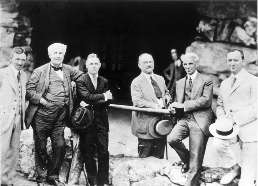 vintage black and white photograph of a group of men