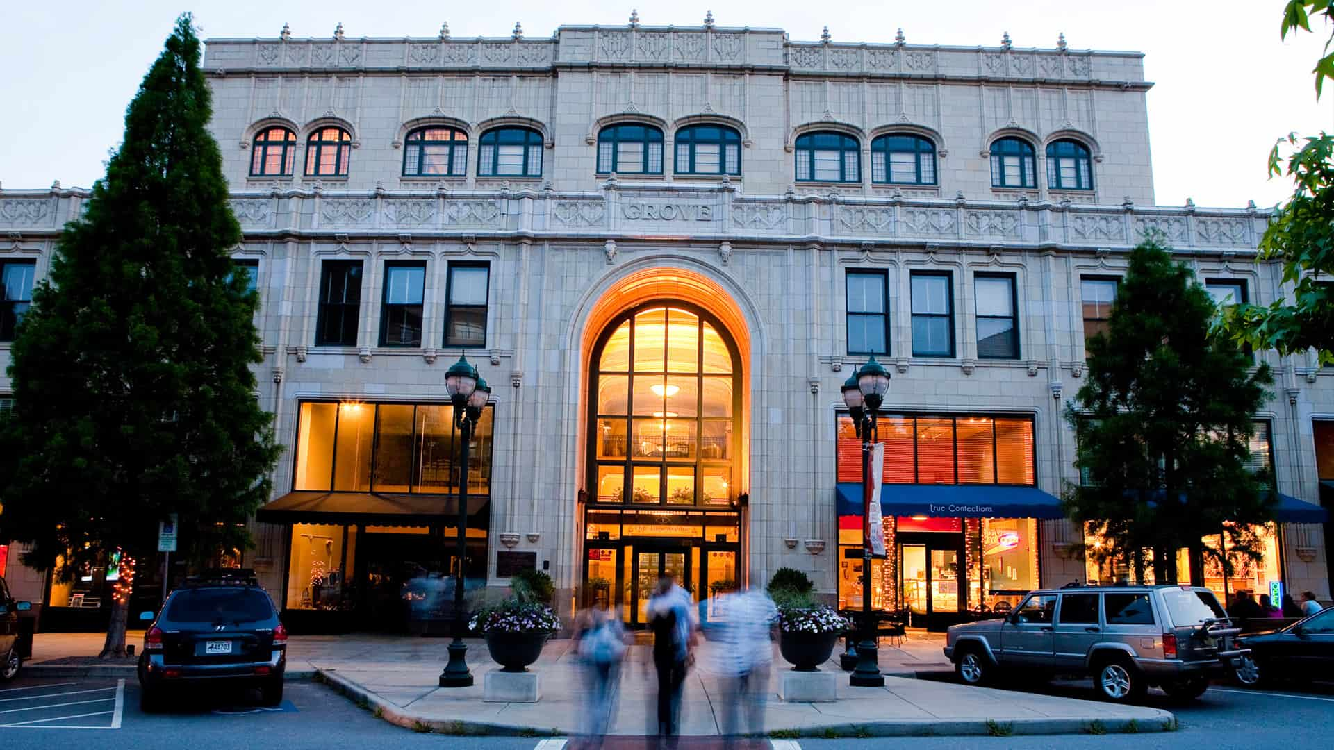 view of grove arcade's east entrance