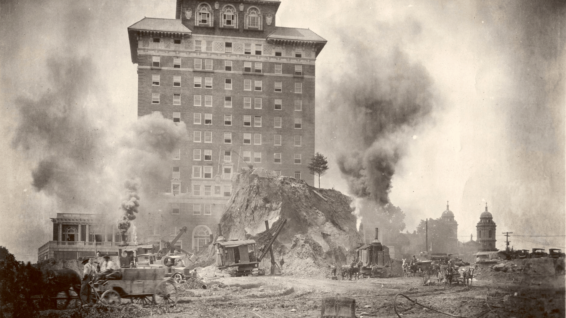 demolition of battery park hill