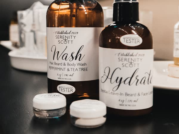skincare and makeup products at serenity and scott apothecary