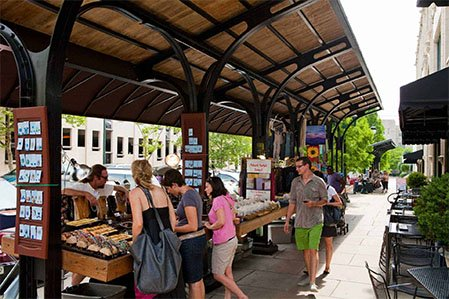 makers market in downtown asheville