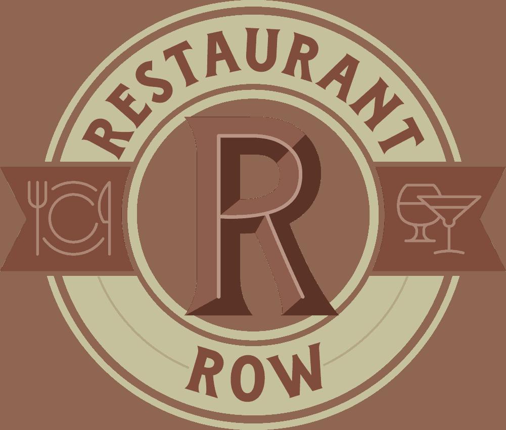 restaurant row circle badge