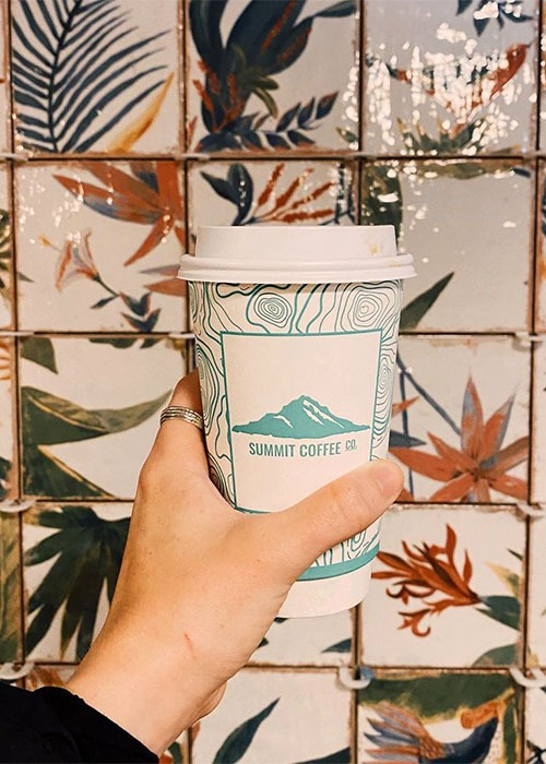 summit coffee cup at grove arcade location